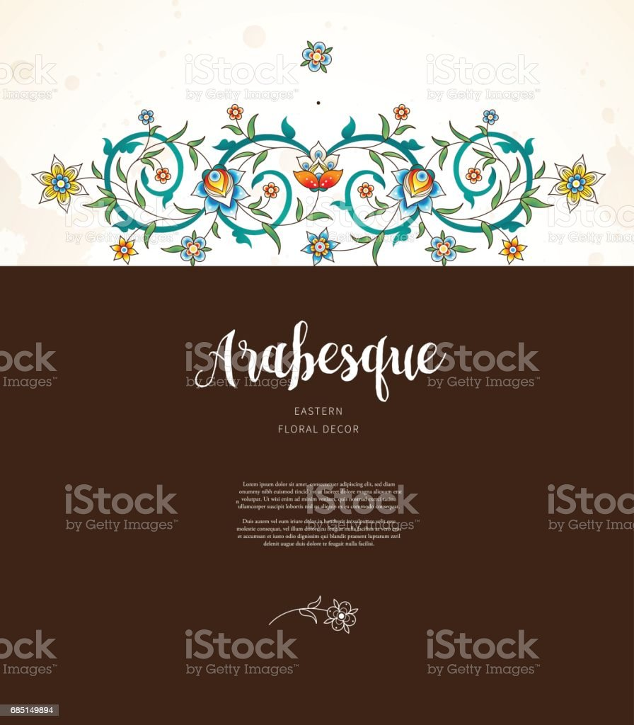 Vector floral frame in Eastern style. royalty-free vector floral frame in eastern style stock vector art & more images of abstract