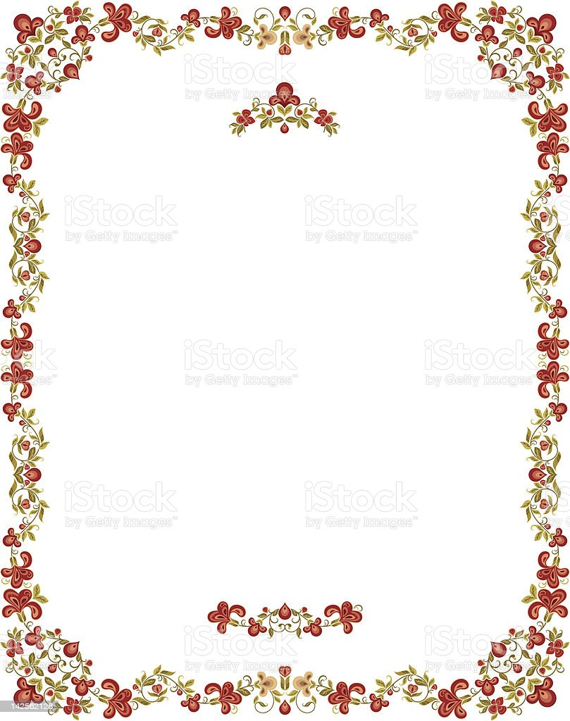 Vector Floral Frame royalty-free vector floral frame stock vector art & more images of art