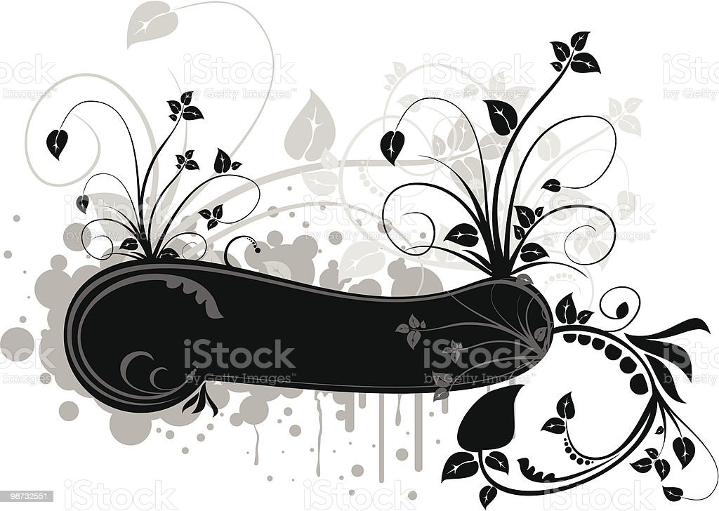 vector floral frame royalty-free vector floral frame stock vector art & more images of abstract