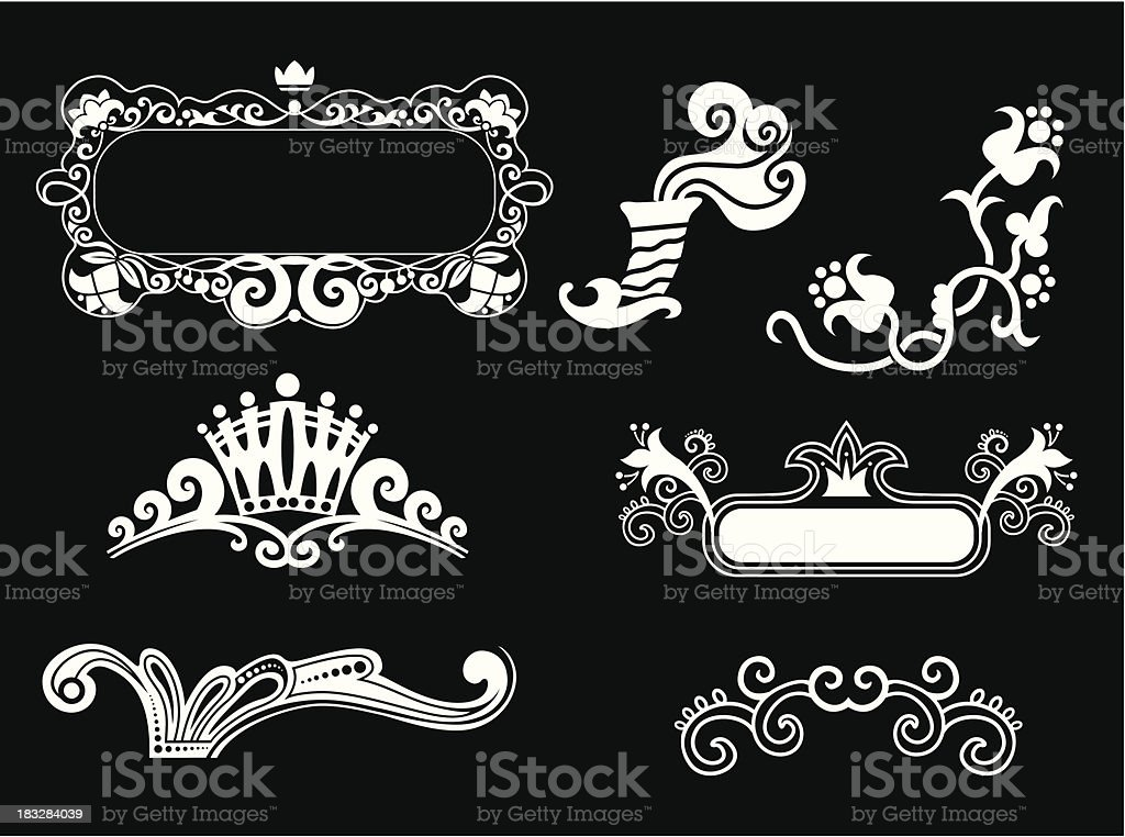 vector floral frames set royalty-free stock vector art
