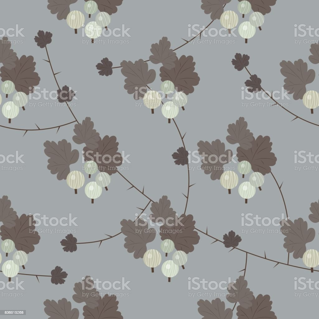 Vector floral gooseberry seamless pattern royalty-free vector floral gooseberry seamless pattern stock vector art & more images of art
