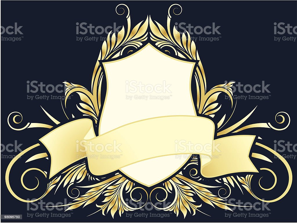 Vector floral heraldic plate royalty-free vector floral heraldic plate stock vector art & more images of abstract