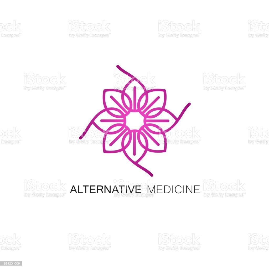 Ilustración de Vector Floral Icono Y Ldesign Plantilla De Estilo De ...