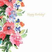 Vector floral illustration. Greeting card, invitation, banner.