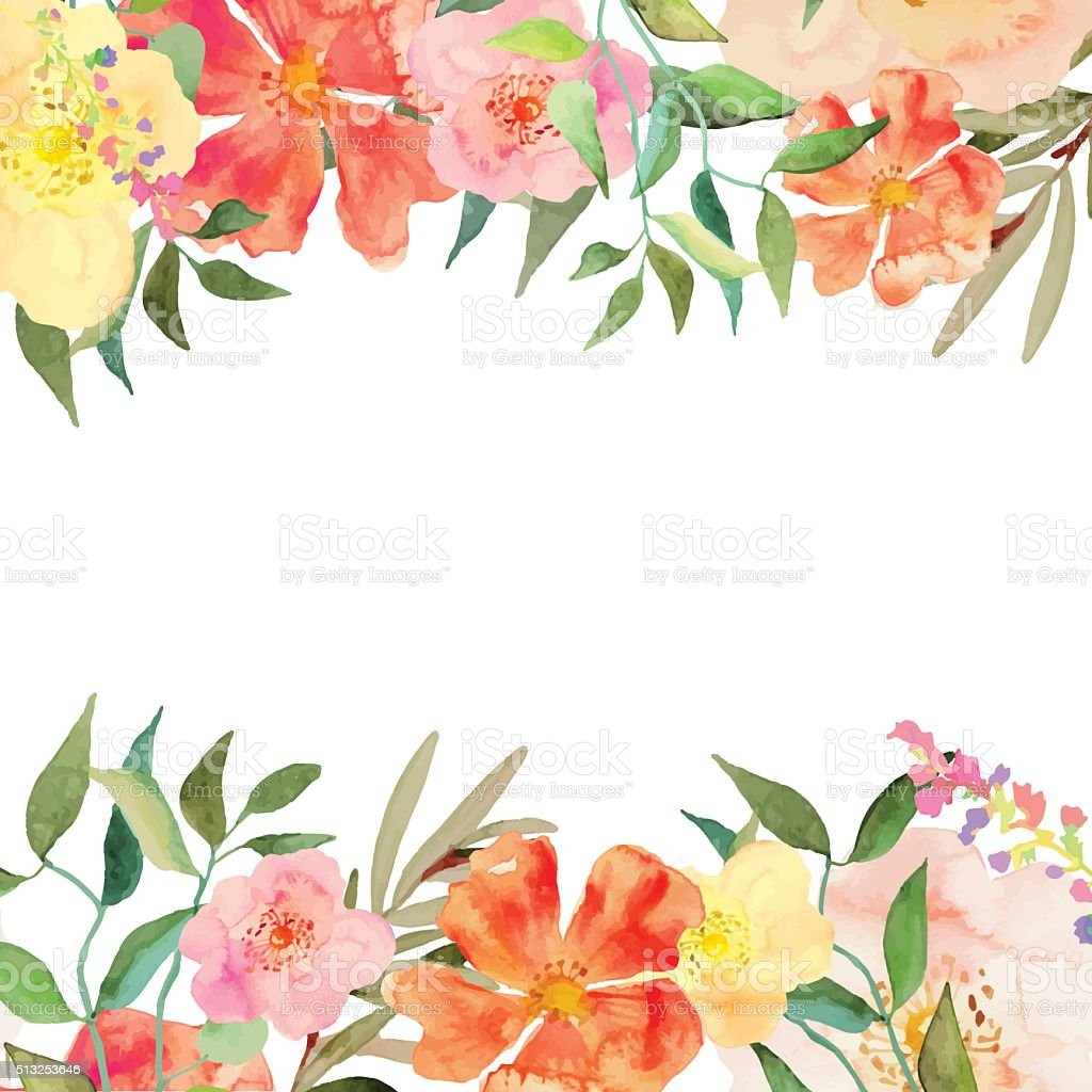 Vector floral illustration vector art illustration