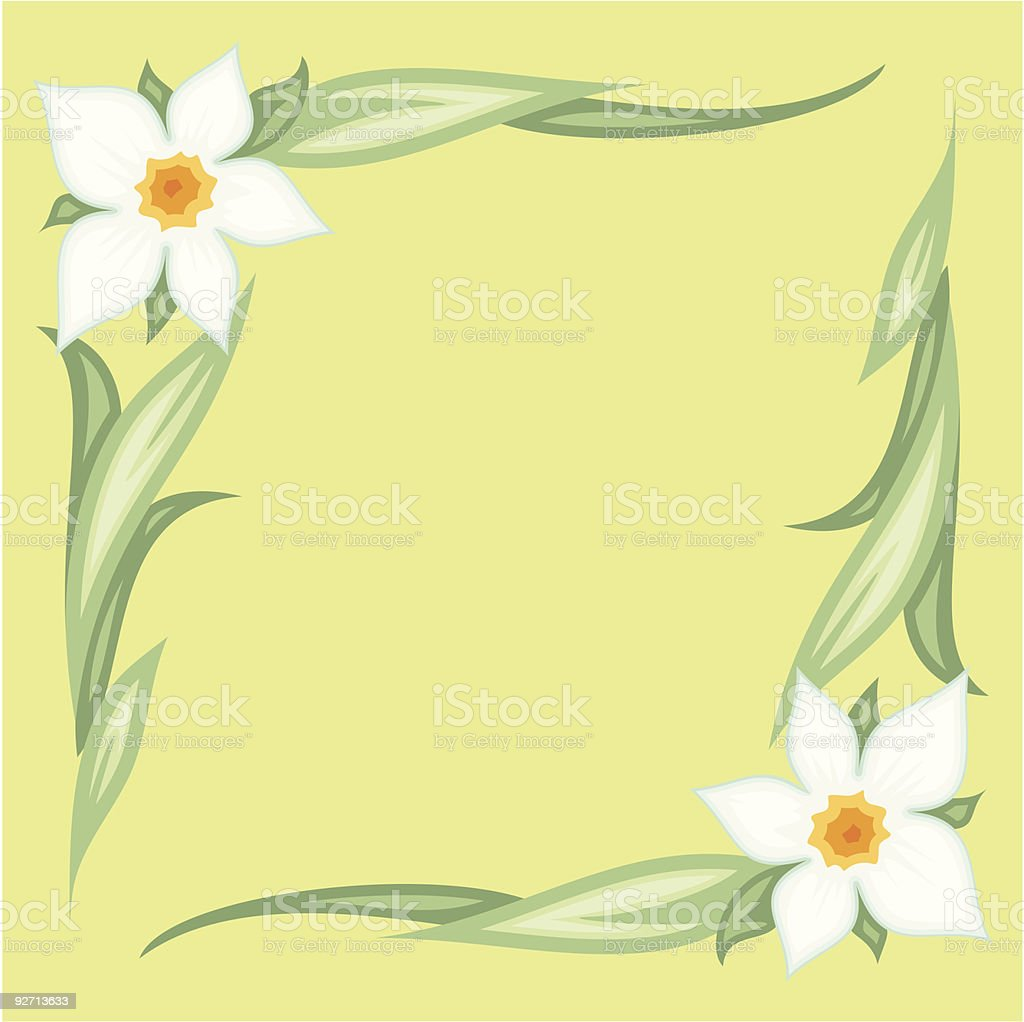 Vector floral ornament royalty-free stock vector art