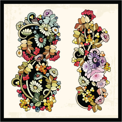 Vector Floral Ornaments In Eastern Vintage Style Stock Illustration - Download Image Now