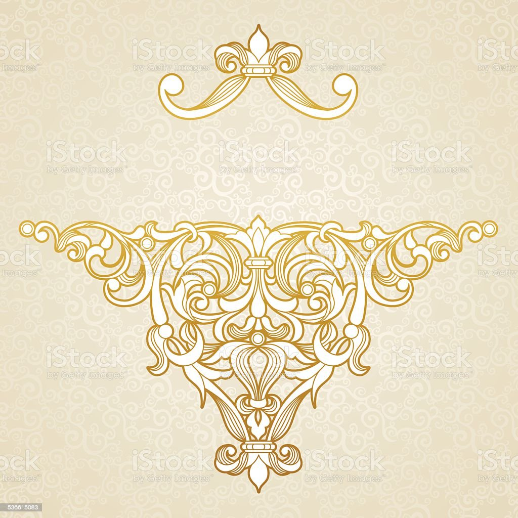 Vector floral pattern in Victorian style. vector art illustration