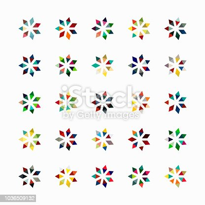 Vector floral pattern symbol collection