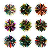 Vector floral Pattern Symbol