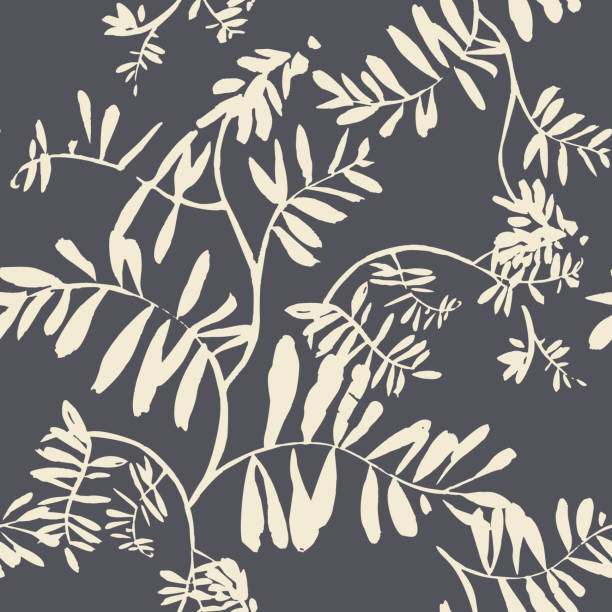 Vector floral seamless pattern. Silhouettes of wildflowers, branches and foliage. Bright botanical drawing. Background with flowers for wallpaper, textiles, fabric, clothes, souvenirs, wrapper, surface. Vector floral seamless pattern. Silhouettes of wildflowers, branches and foliage. Bright botanical drawing. Background with flowers for wallpaper, textiles, fabric, clothes, souvenirs, wrapper, surface. anniversary silhouettes stock illustrations