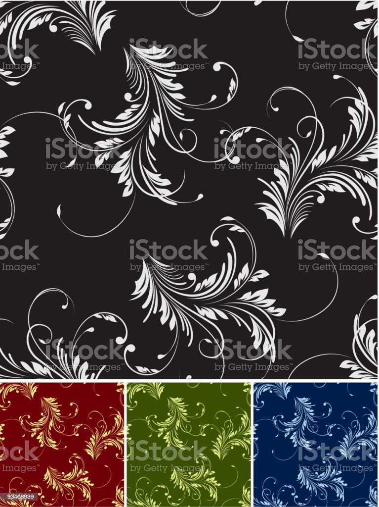 Vector floral seamless royalty-free stock vector art