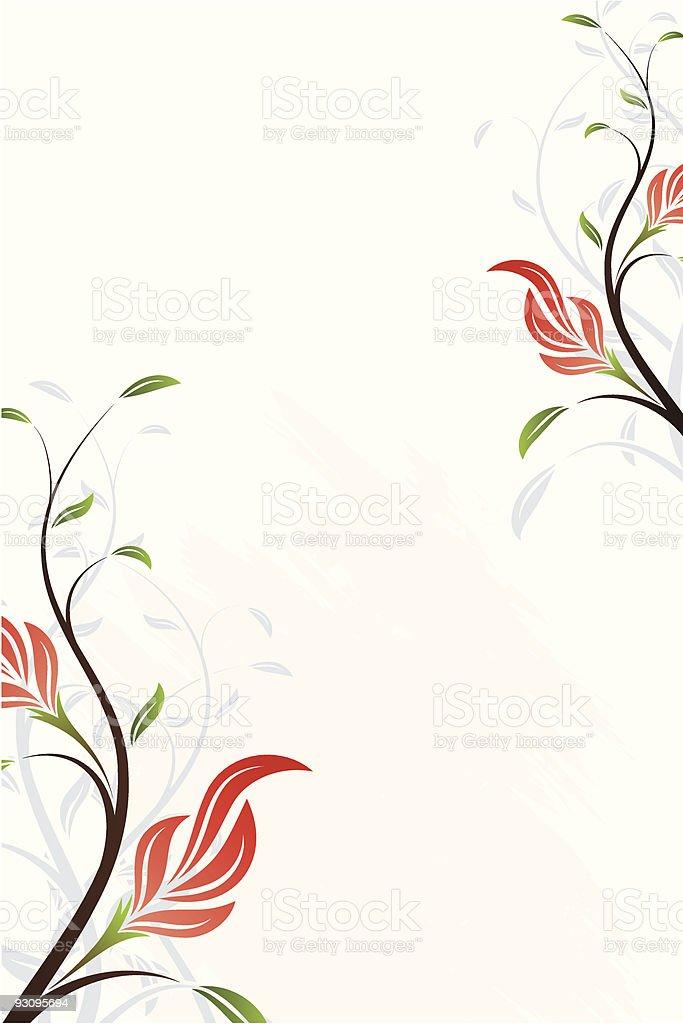 Vector Floral Swirl royalty-free stock vector art
