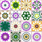 Vector Floral Tile Pattern