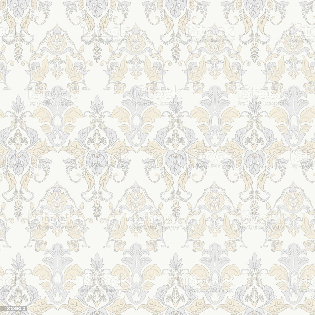 Vector Floral Wallpaper Classic Baroque Floral Ornament Seamless