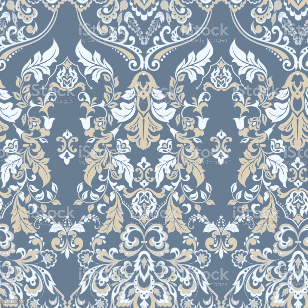 Vector Floral Wallpaper Classic Baroque Floral Ornament Stock