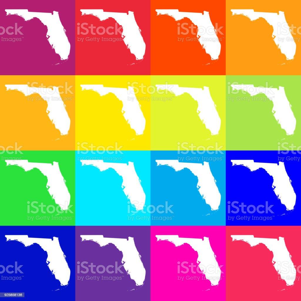 Florida Usa Map.Vector Florida Usa Map In Bright Colors Stock Vector Art More