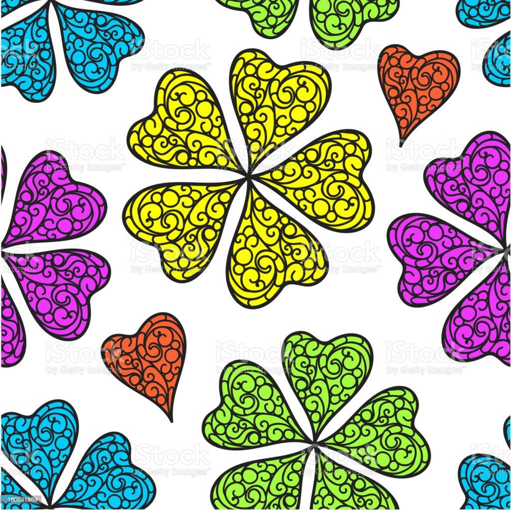 Vector flourish seamless pattern royalty-free stock vector art