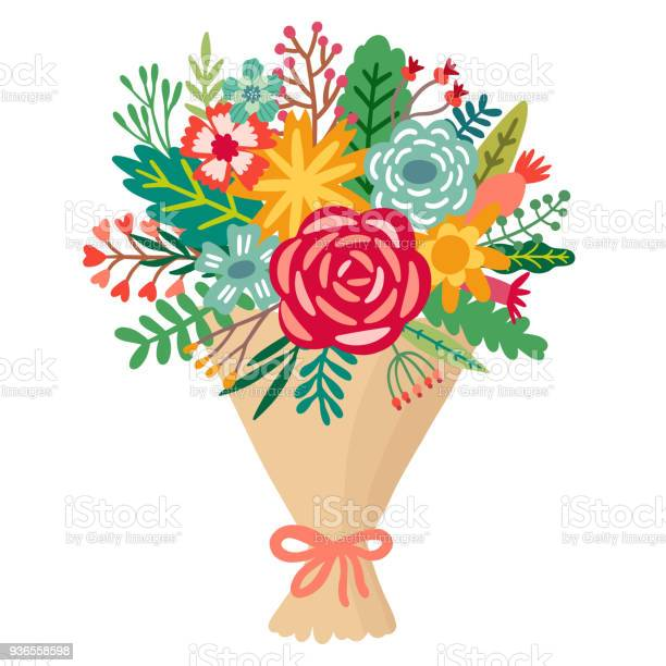 Vector flower bouquet floral bunch illustration vector id936558598?b=1&k=6&m=936558598&s=612x612&h=z8hzd1hg pnnfhtjdwr2q5zhct9oh0w63n1p0paovuk=