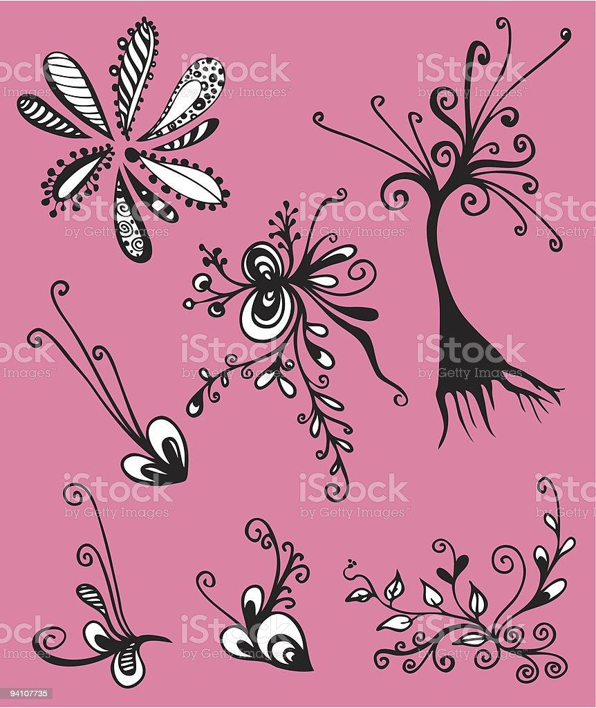 vector flower set royalty-free vector flower set stock vector art & more images of art deco