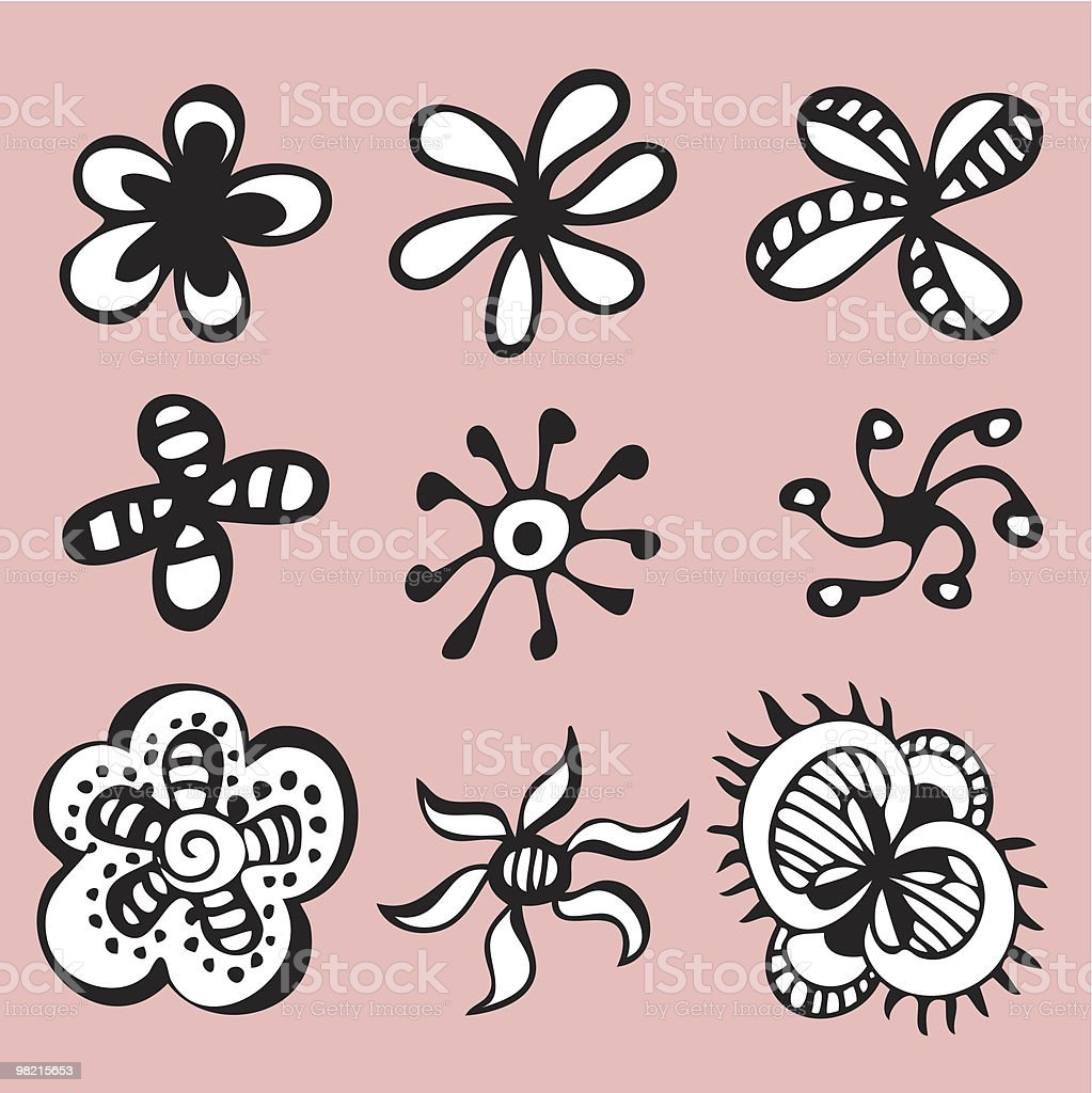 vector flower set royalty-free vector flower set stock vector art & more images of backgrounds