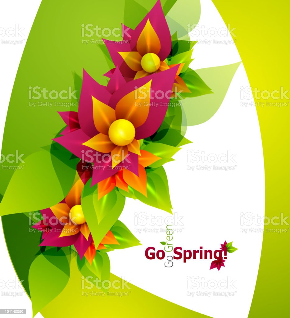 Vector flower spring background royalty-free stock vector art