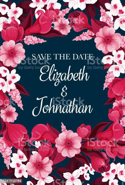 Vector flowers card for save the date vector id1041143764?b=1&k=6&m=1041143764&s=612x612&h=8nbxy3nc88hnfo5muepkp3dr4h2i36koacxtbneowjo=