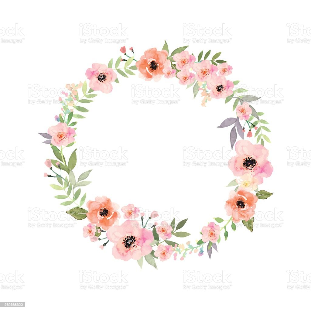 Vector flowers frame. Elegant floral collection with isolated flowers. vector art illustration