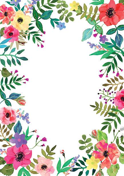 Vector de flores conjunto. Colección de flores de gran colorido con hojas y flores. - ilustración de arte vectorial