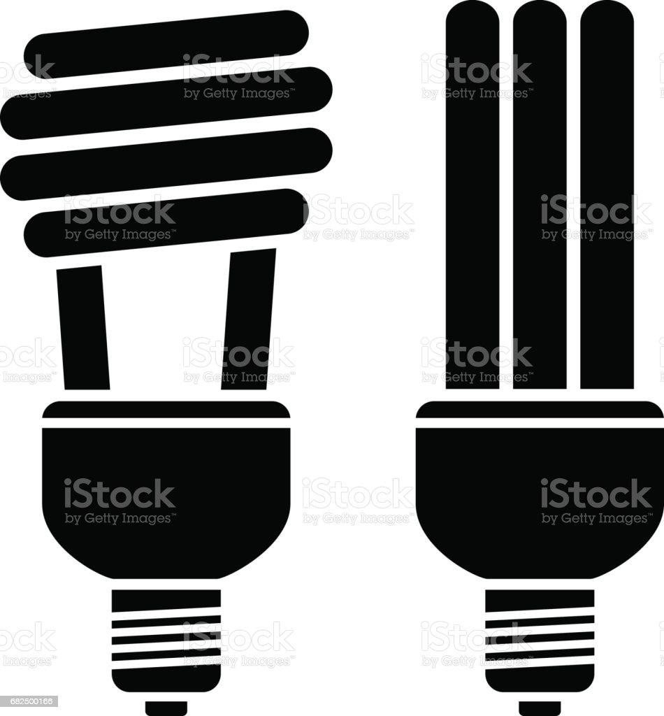 vector fluorescent compact bulbs vector art illustration
