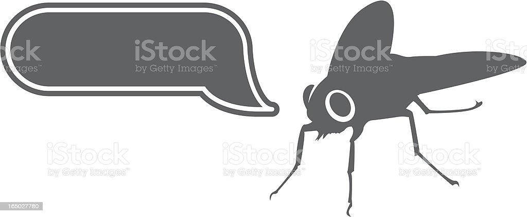 vector - fly and balloon royalty-free stock vector art