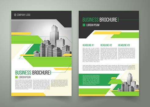 Vector flyer, cover design, business brochure