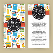 Vector Flyer Template of Flat design Back to School Education