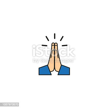 Vector folded hands icon