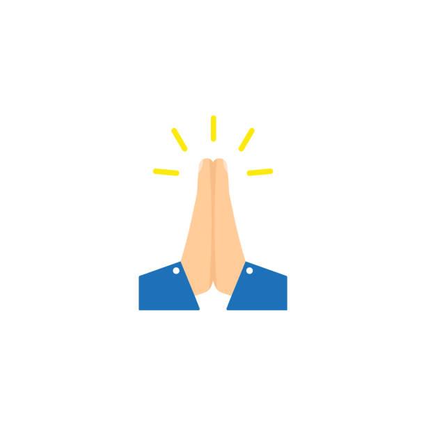 向量折疊的手圖示向量例證 - prayer 幅插畫檔、美工圖案、卡通及圖標