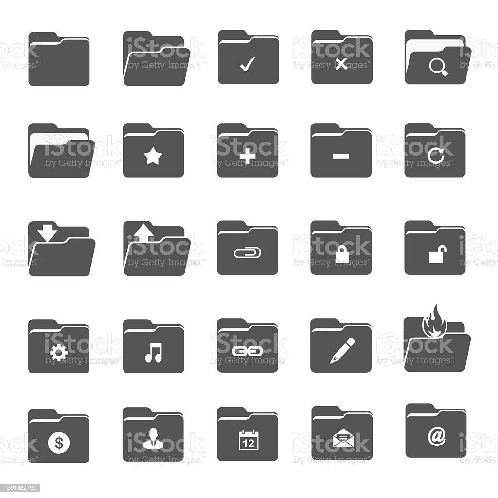 Vector folder icons vector art illustration