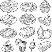 Vector Food Illustrations. Thirteen great quality vector illustrations of varius type of food.