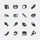 Vector food mini icons set #1
