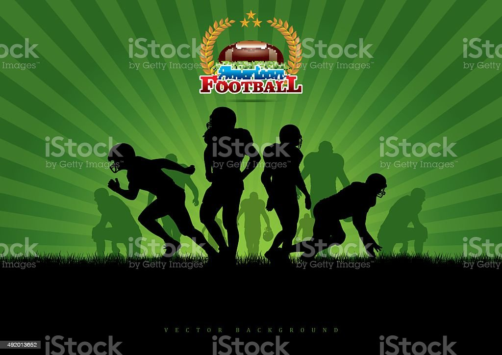 Vector Football Background vector art illustration