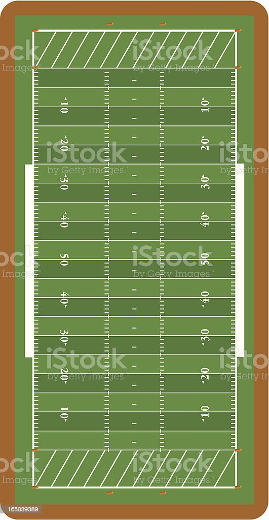 Vector Football Field royalty-free stock vector art