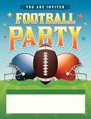 Vector Football Party Illustration