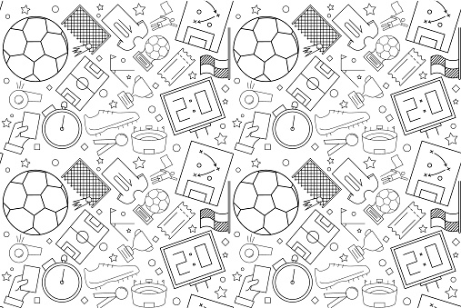 Vector football pattern. football seamless background