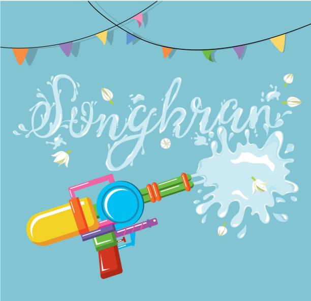 vector for songkran festival, thailand new year - songkran festival stock illustrations, clip art, cartoons, & icons
