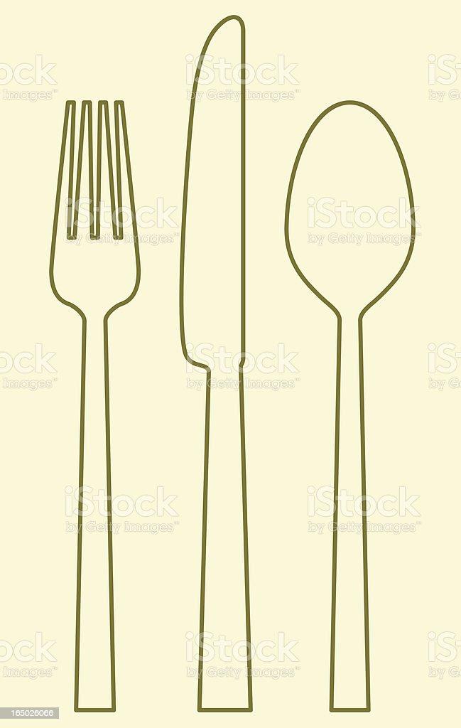 vector - fork_knife_spoon royalty-free stock vector art