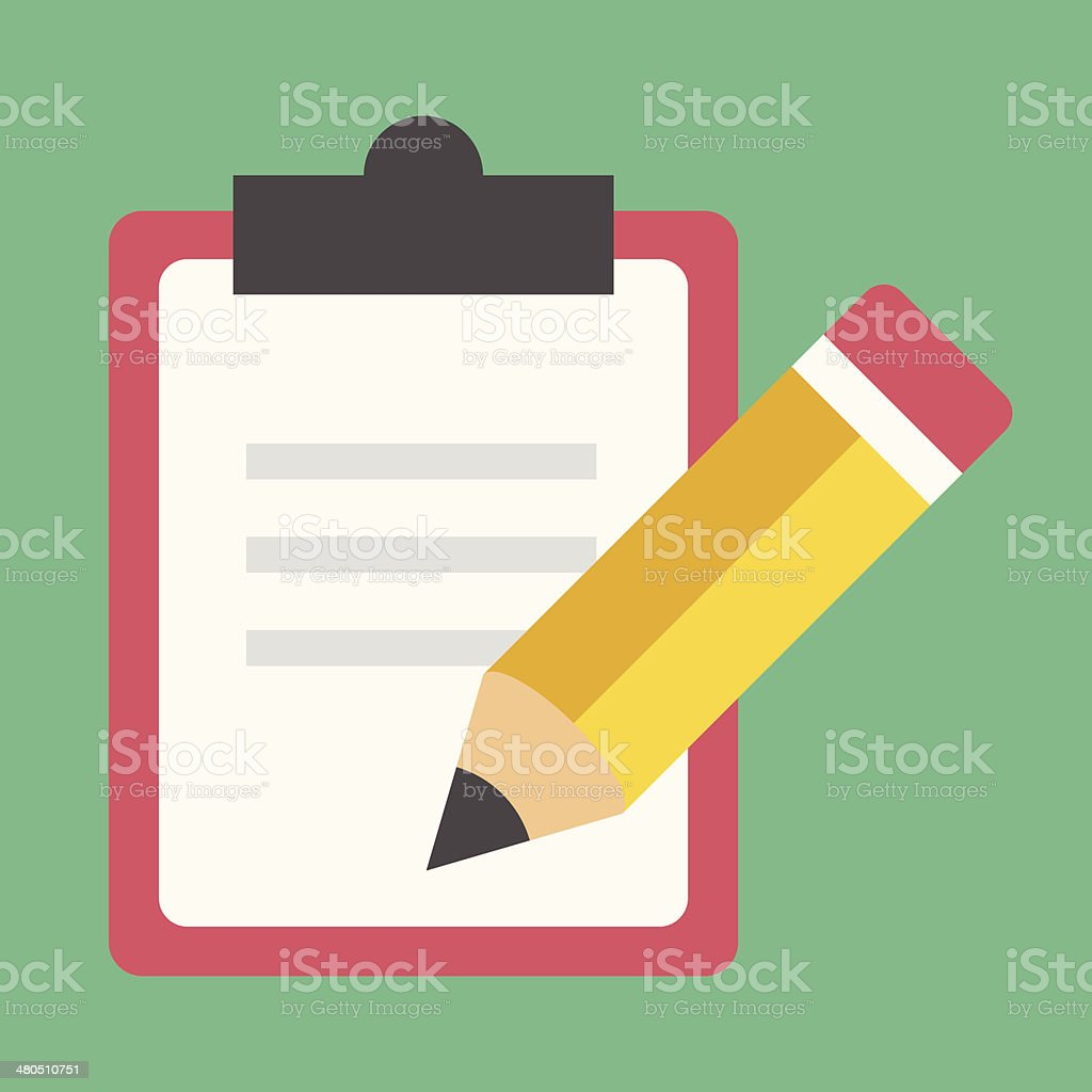 Vector Form and Pencil Icon vector art illustration