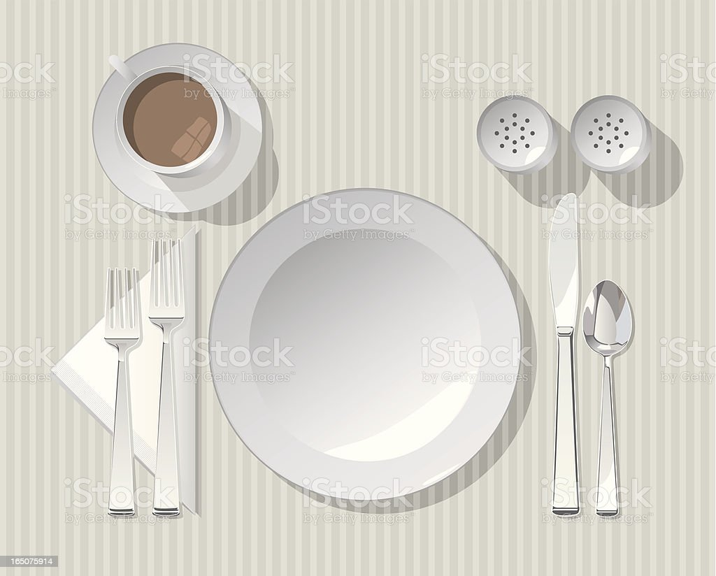Vector Formal Place Setting royalty-free stock vector art