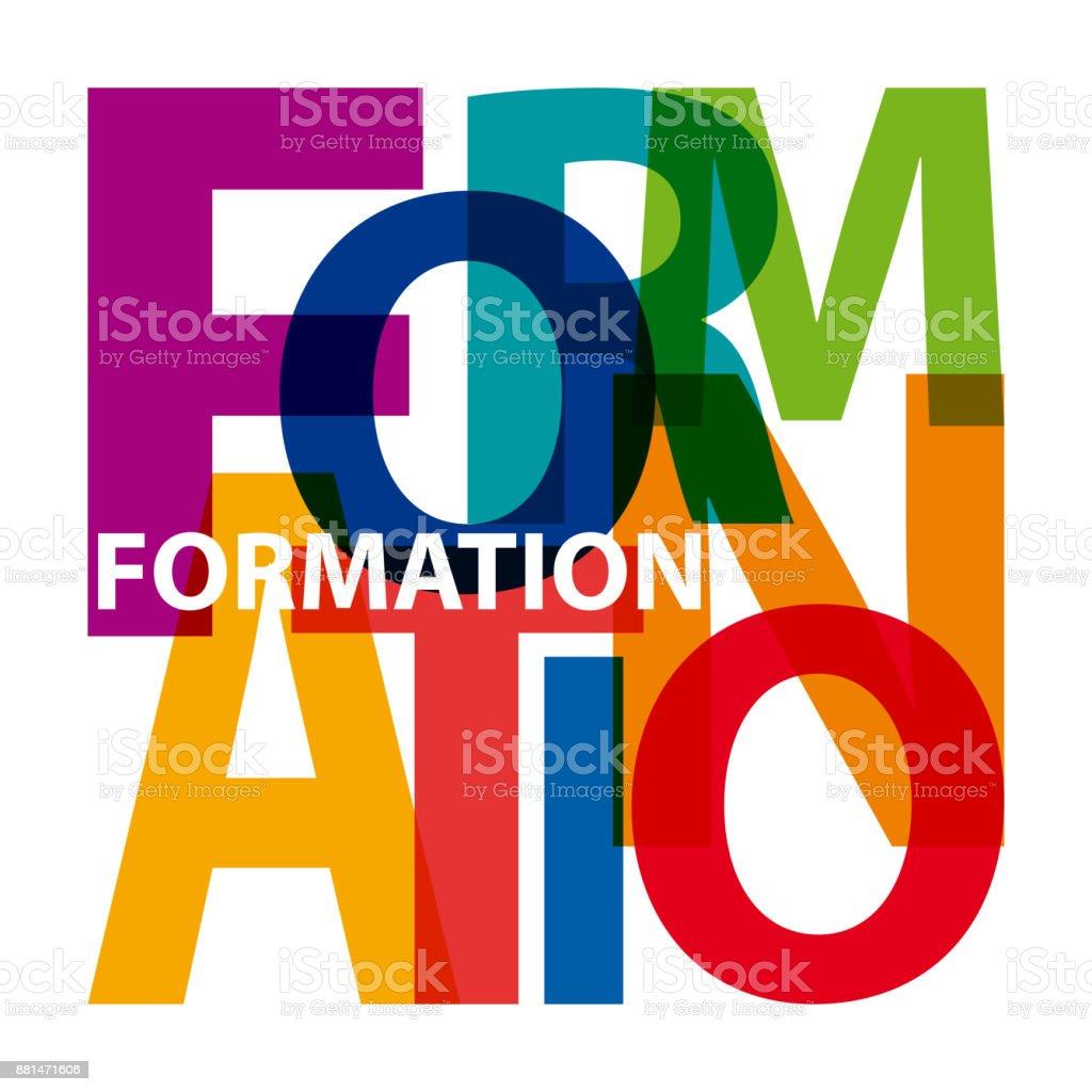 Vector formation. Broken text vector art illustration