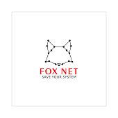 Vector Fox Wild Animal Logo Design like Astrology Sign