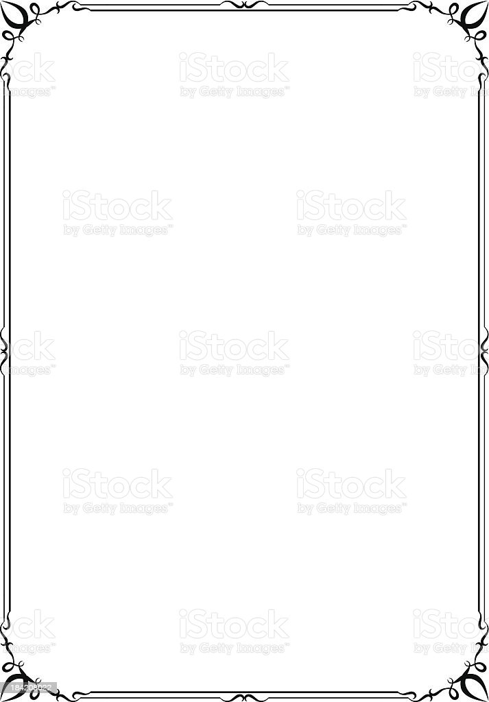 vector frame and border stock vector art more images of angle rh istockphoto com free vector borders and frames download free vector borders and frames for certificates