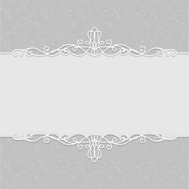 illustrazioni stock, clip art, cartoni animati e icone di tendenza di vector frame of beautiful wedding invitations, postcards, greeting cards, photo frames, certificates in gray colors. lovely backgrounds - sfondo matrimoni